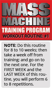mmt 1 Mass Machine Training Program   Routine Listing