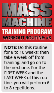 mmt 3 Mass Machine Training Program   Routine Listing