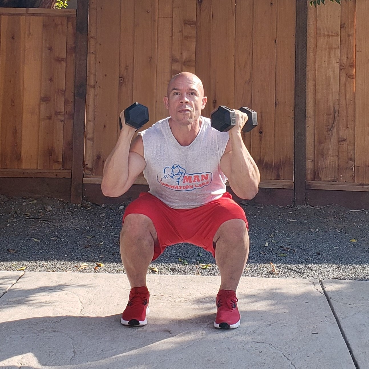 14 squat 1 15 x 15 x 15 Workouts For Older Men HOME Gym Workout #4
