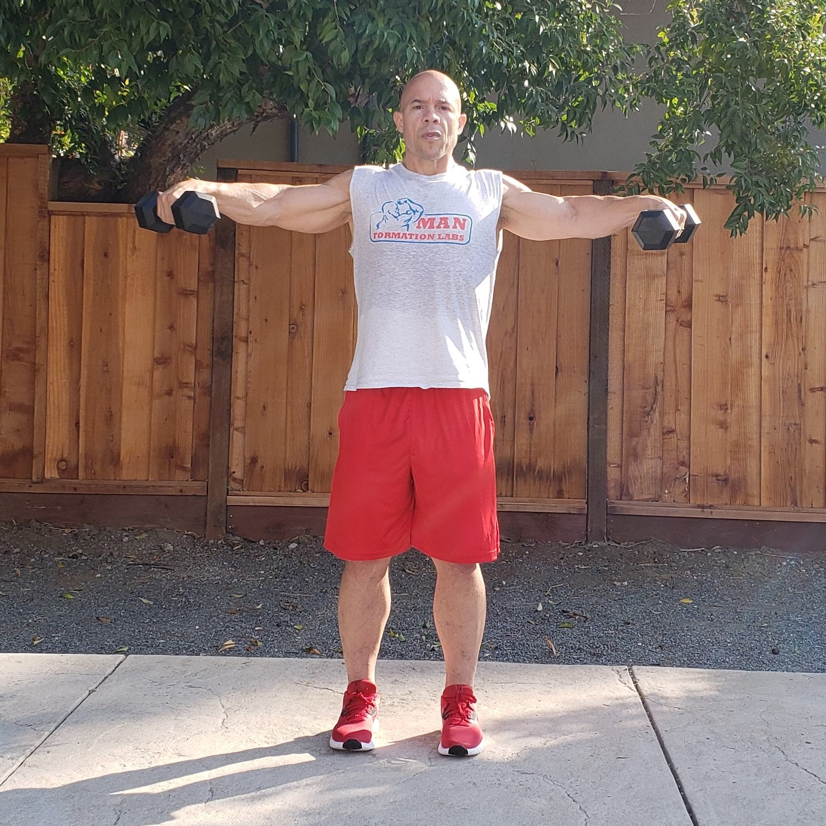 3 lateral raises 15 x 15 x 15 Workouts For Older Men HOME Gym Workout #4