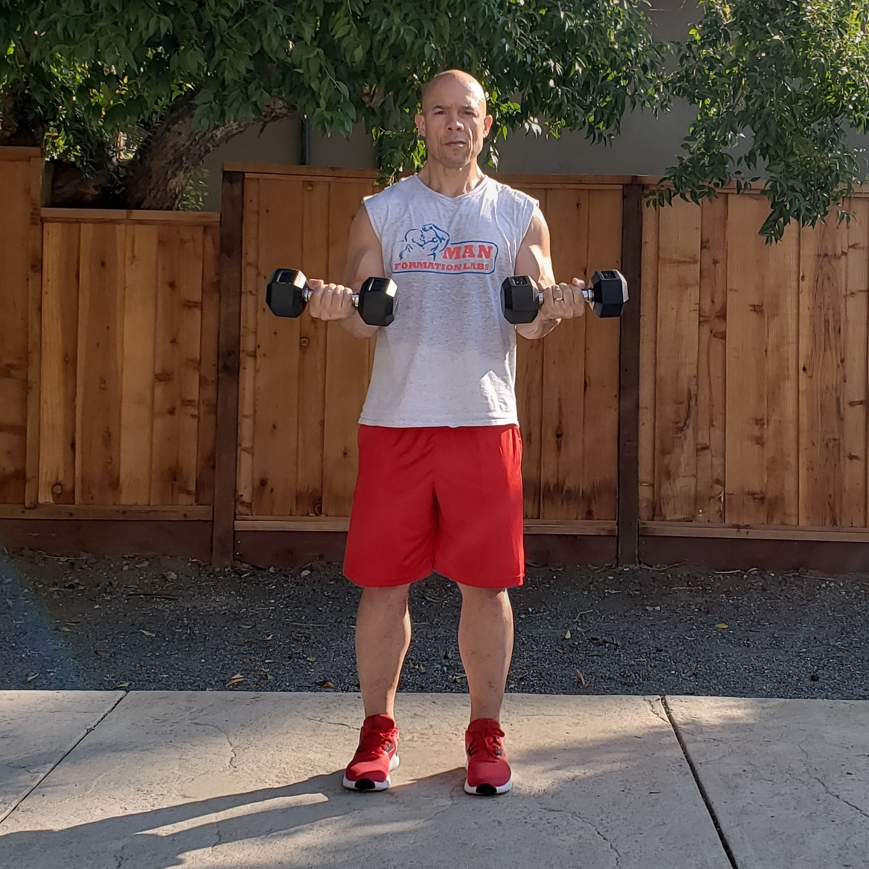 4 curls 15 x 15 x 15 Workouts For Older Men HOME Gym Workout #4