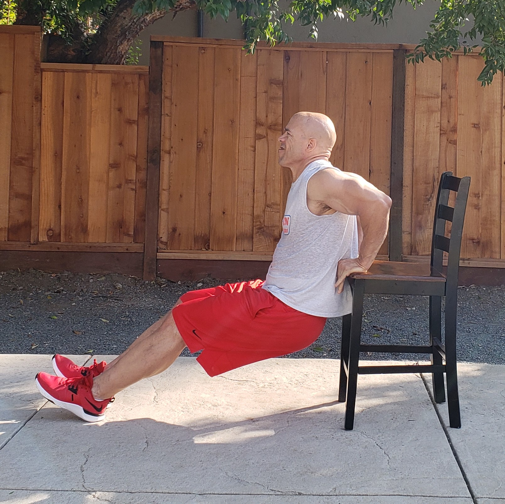 5 dips 15 x 15 x 15 Workouts For Older Men HOME Gym Workout #4