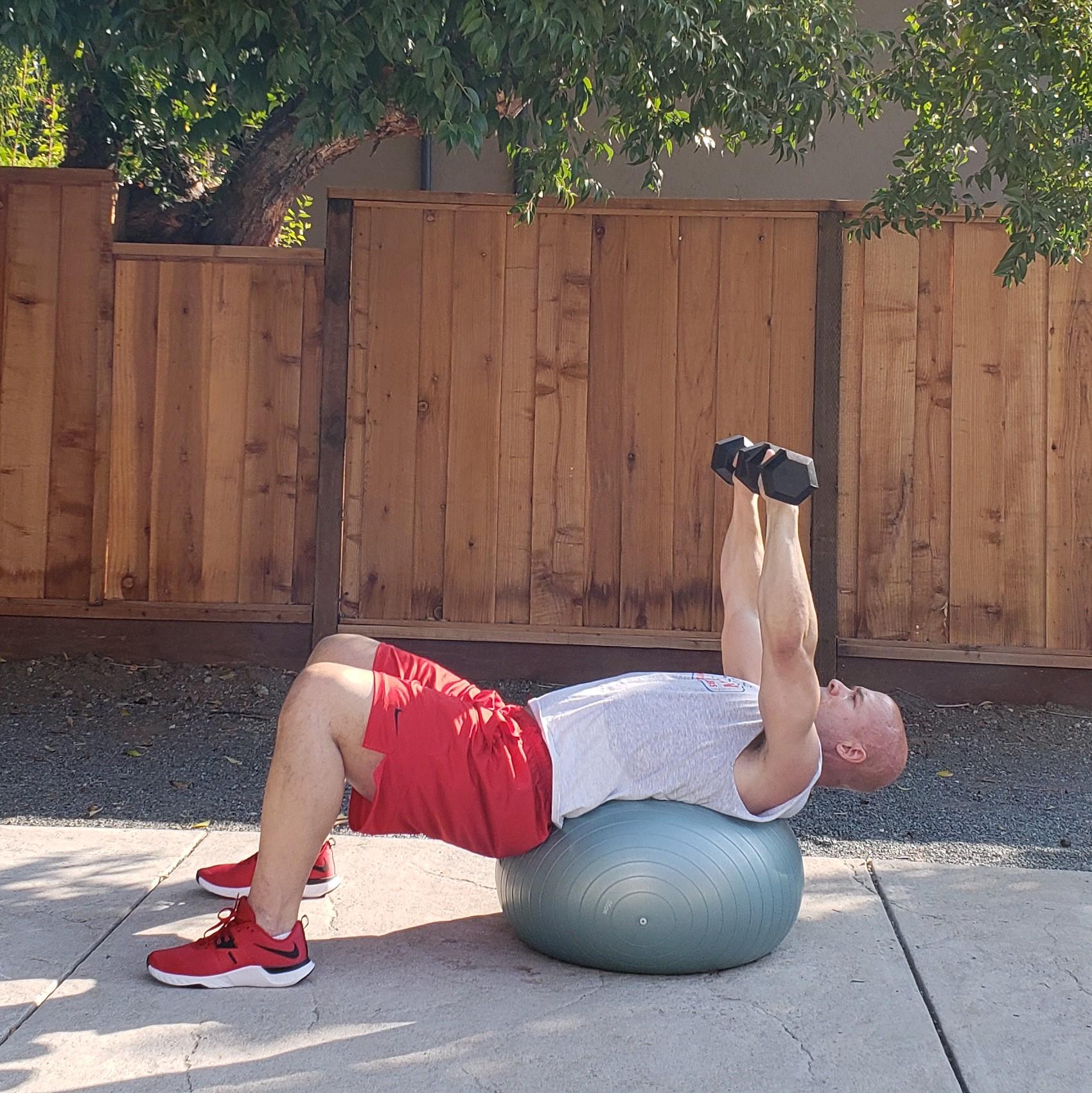 9 dumbbell presses 1 15 x 15 x 15 Workouts For Older Men HOME Gym Workout #4